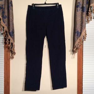 Karen Scott Petites Large. Navy Corduroy Pants.